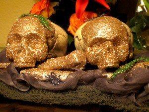 Glittered Skulls