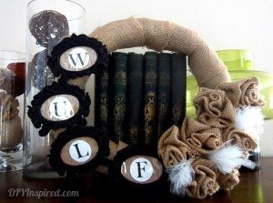 Burlap scrap wreath
