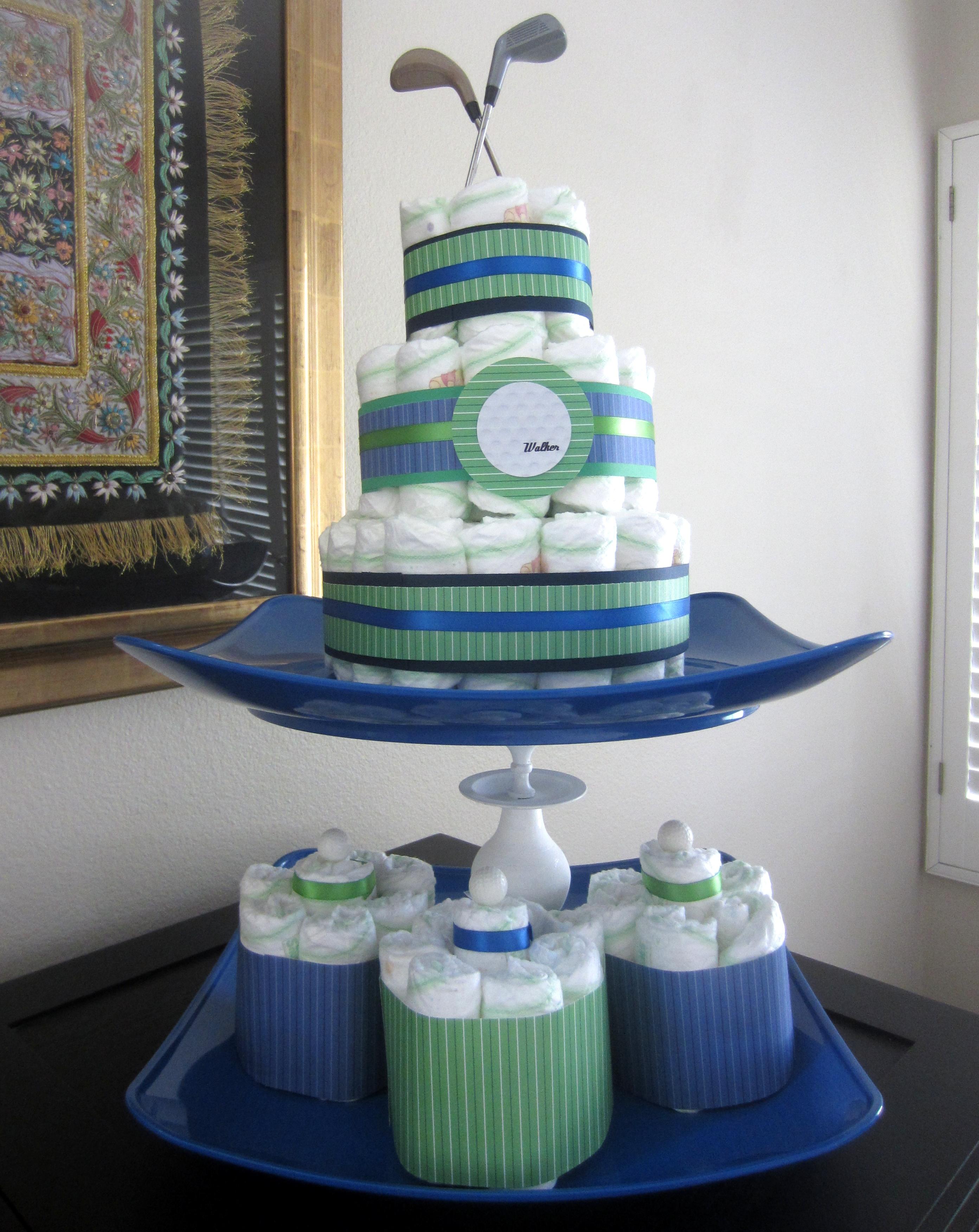Diy Golf Diaper Cake