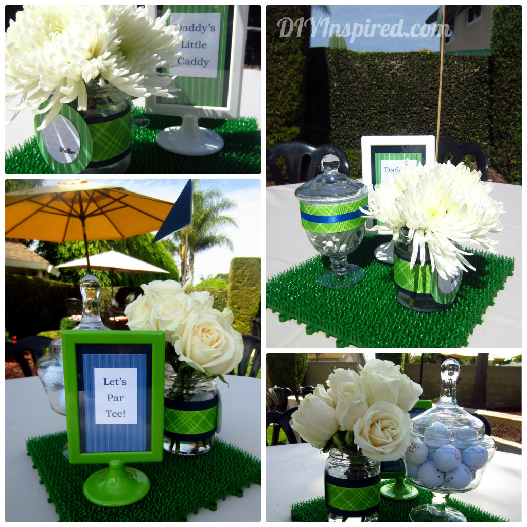 Golf themed baby shower diy inspired for Decoration hole