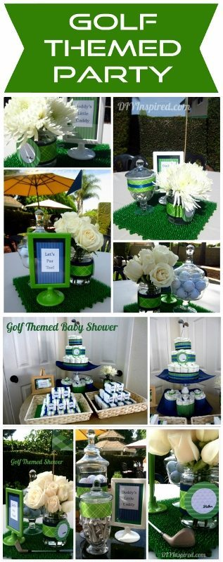 Golf Themed Baby Shower - DIY Inspired on wine inspired party, casino inspired party, art inspired party, travel inspired party, tennis inspired party, basketball inspired party, fishing inspired party,