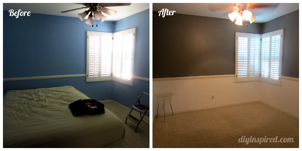 Guest Room Paint Makeover Diy Inspired