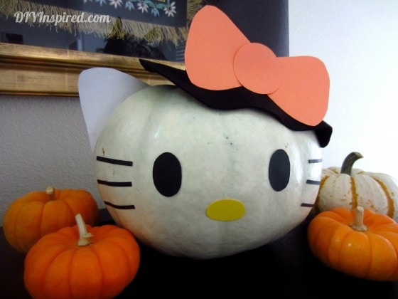 hello kitty pumpkin diy inspired rh diyinspired com hello kitty pumpkin carving stencil hello kitty pumpkin painting