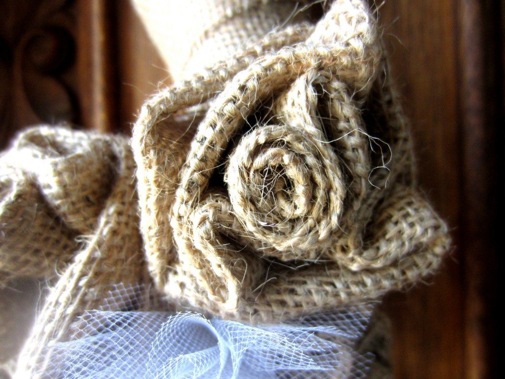 How to Make a Burlap Flower DIY Inspired