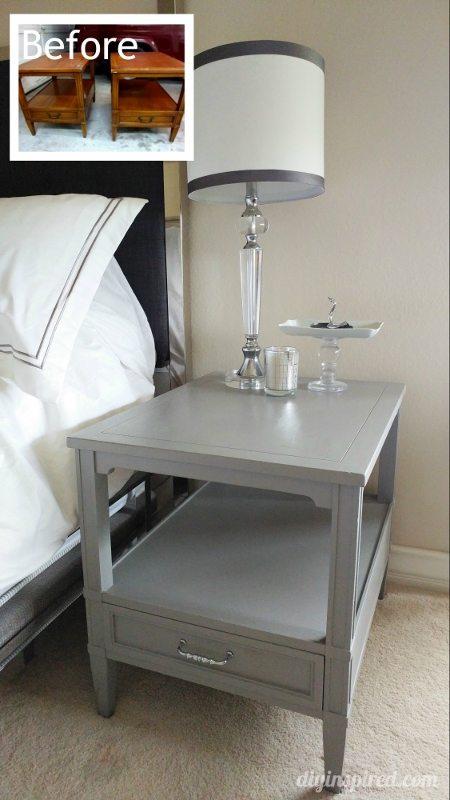 Garage Sale Bedside Tables Makeover - DIY Inspired