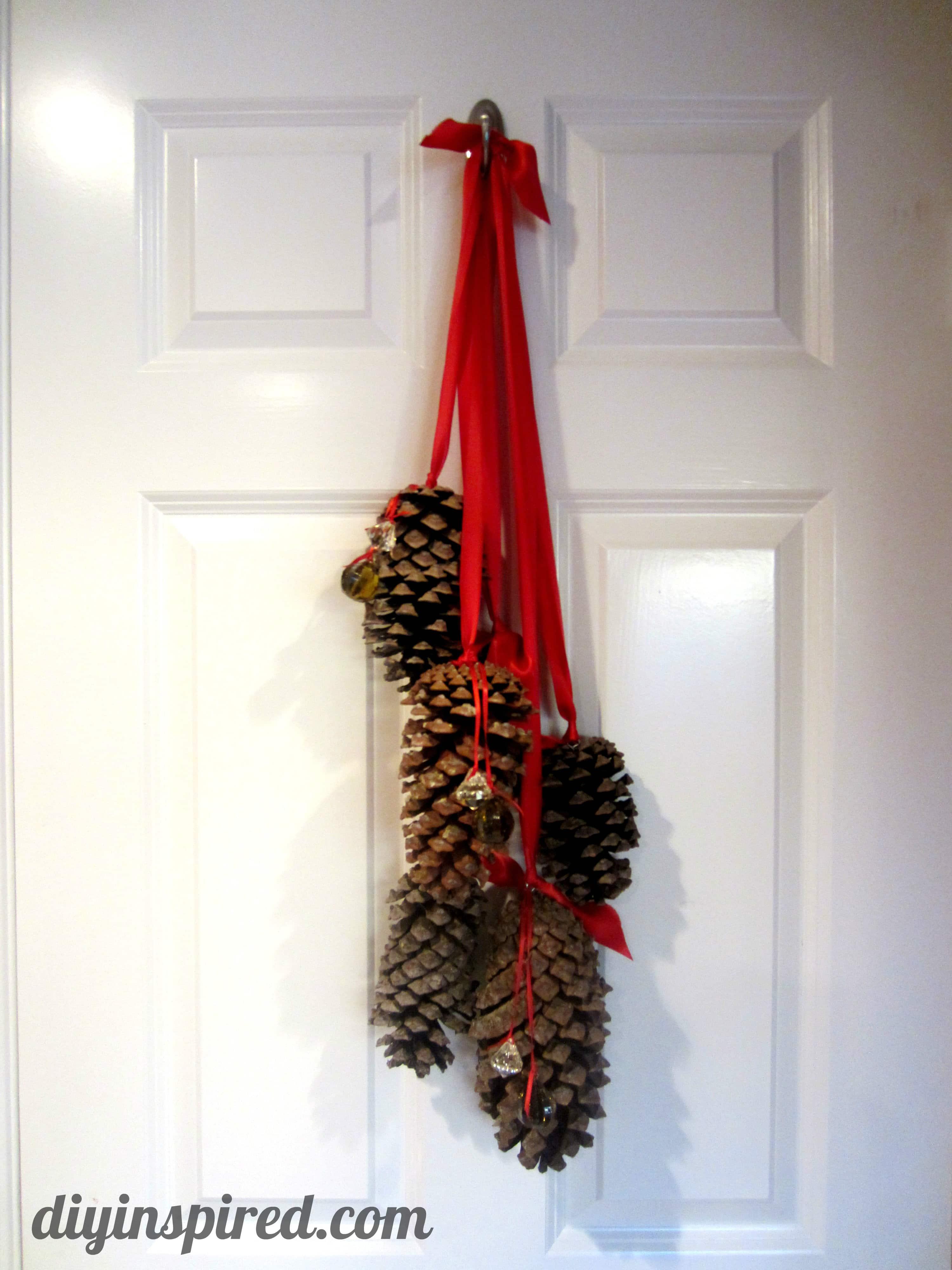 Hanging Pine Cone Decoration  DIY Inspired