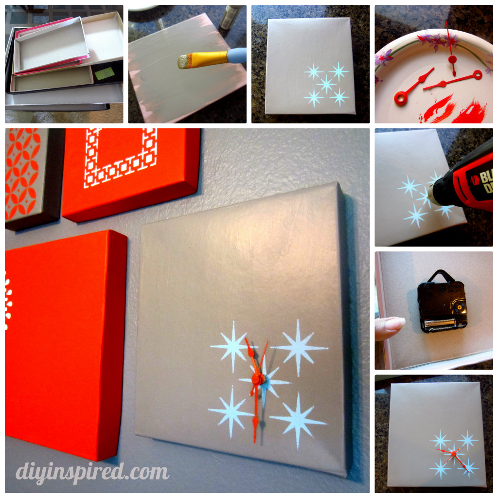 Decorating A Shoe Box: Shoe Box Lid Clock