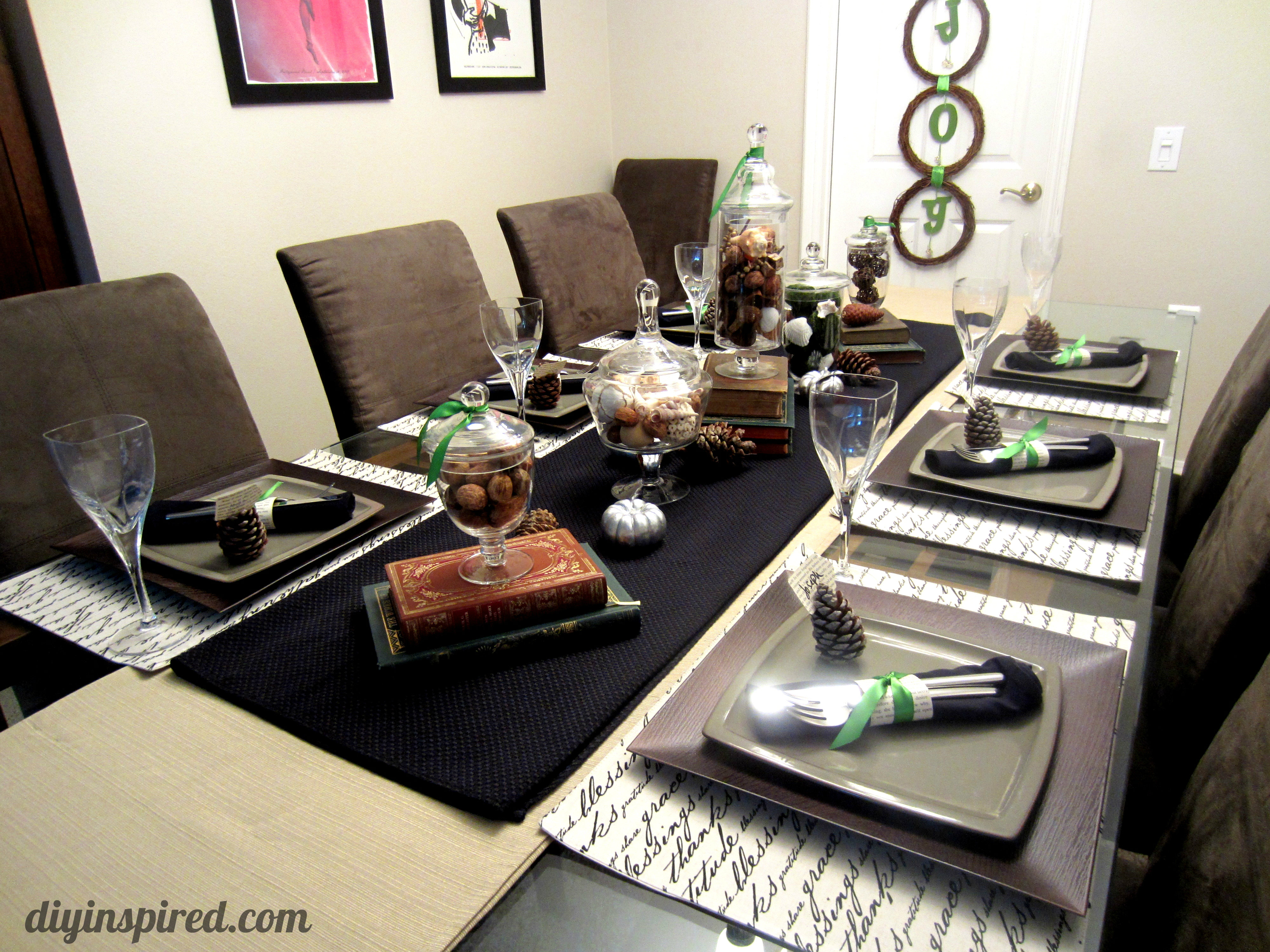 Thanksgiving Table Setting - DIY Inspired
