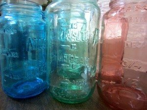 Stained Mason Jars