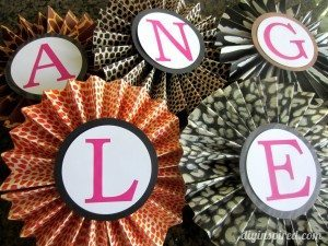 Animal Print Accordion Flowers