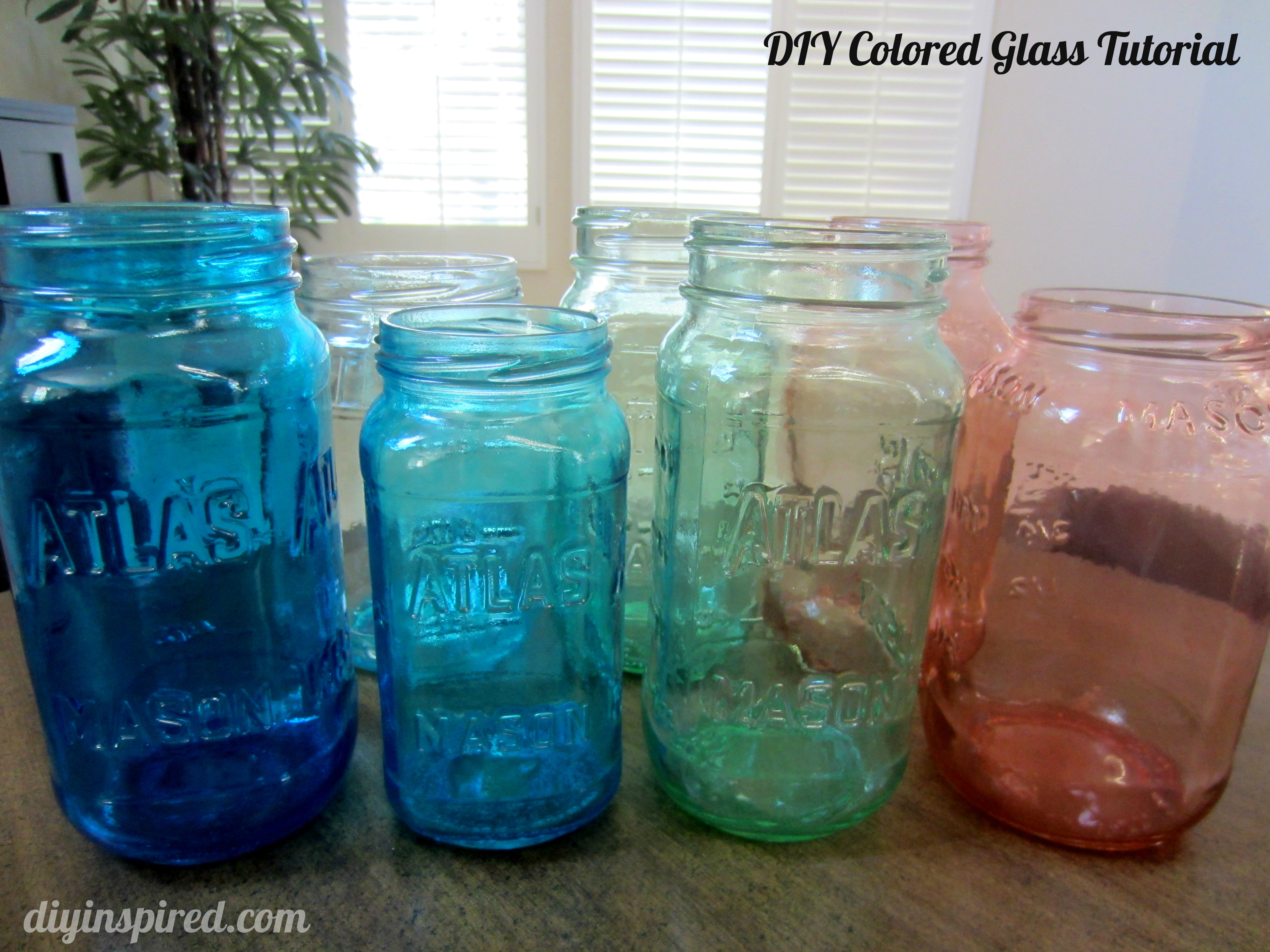 DIY Colored Glass Tutorial Inspired