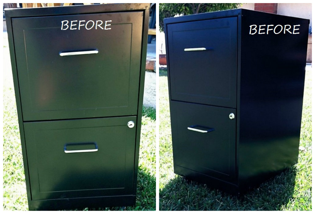 Charmant Metal File Cabinet Makeover Diy Inspired