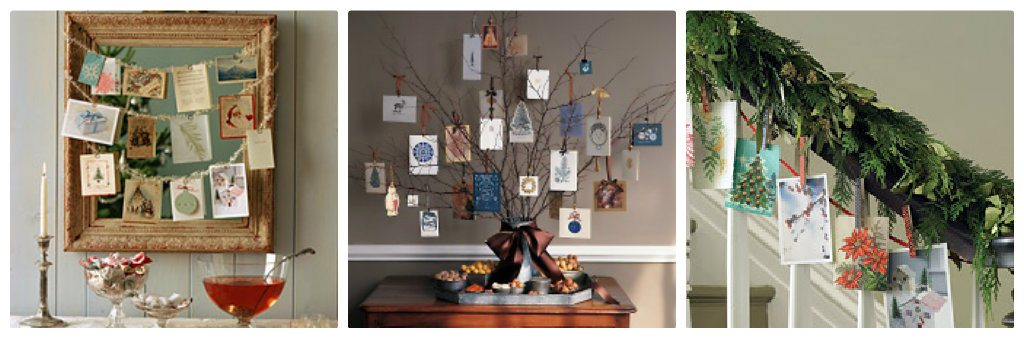 Martha Stewart Christmas Card Displays