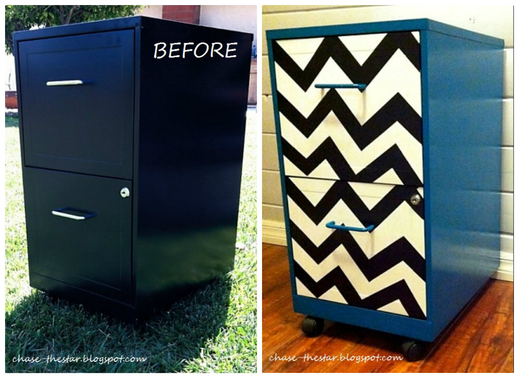 metal file cabinet makeover 3