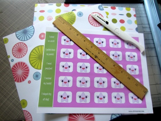Potty Training Chart with Free Printable - DIY Inspired
