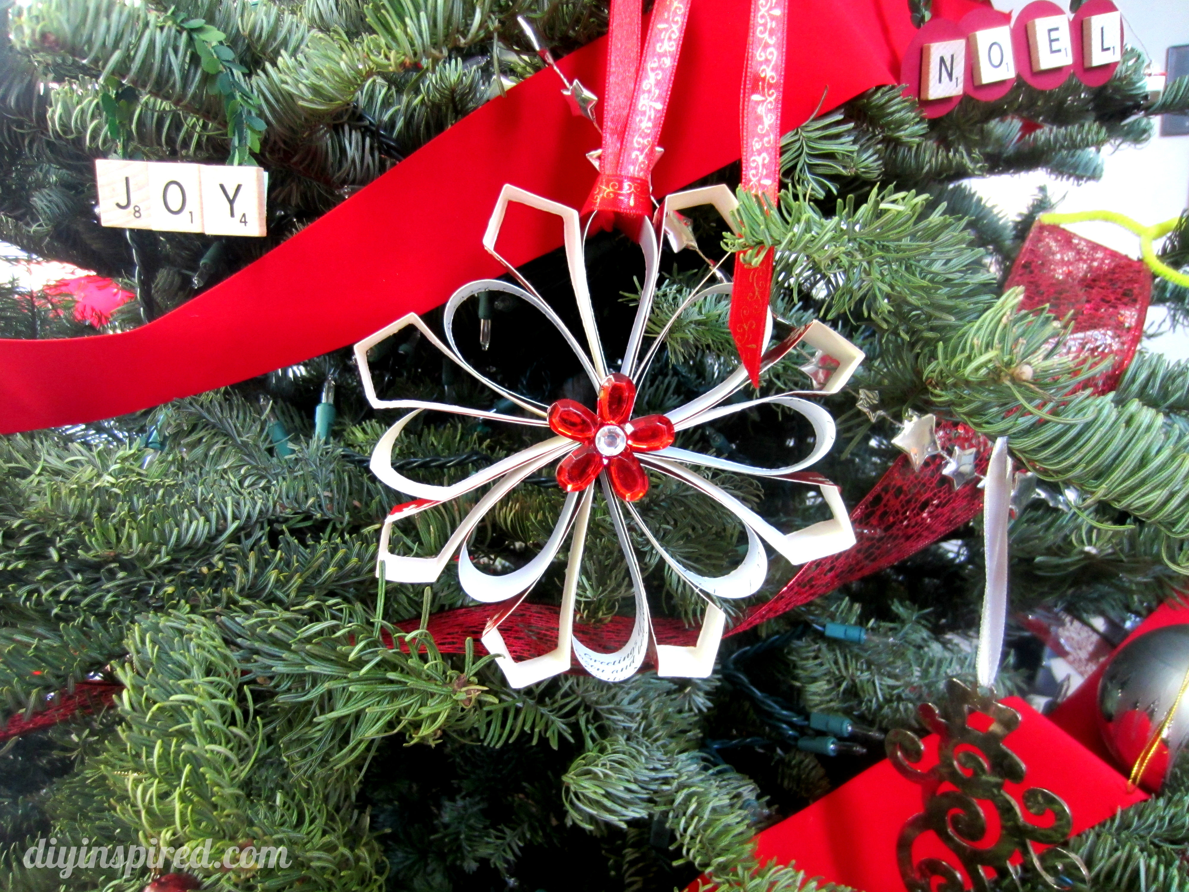 How to make a christmas decor out of recycled materials - Recycled Christmas Card Ornaments Diy Inspired