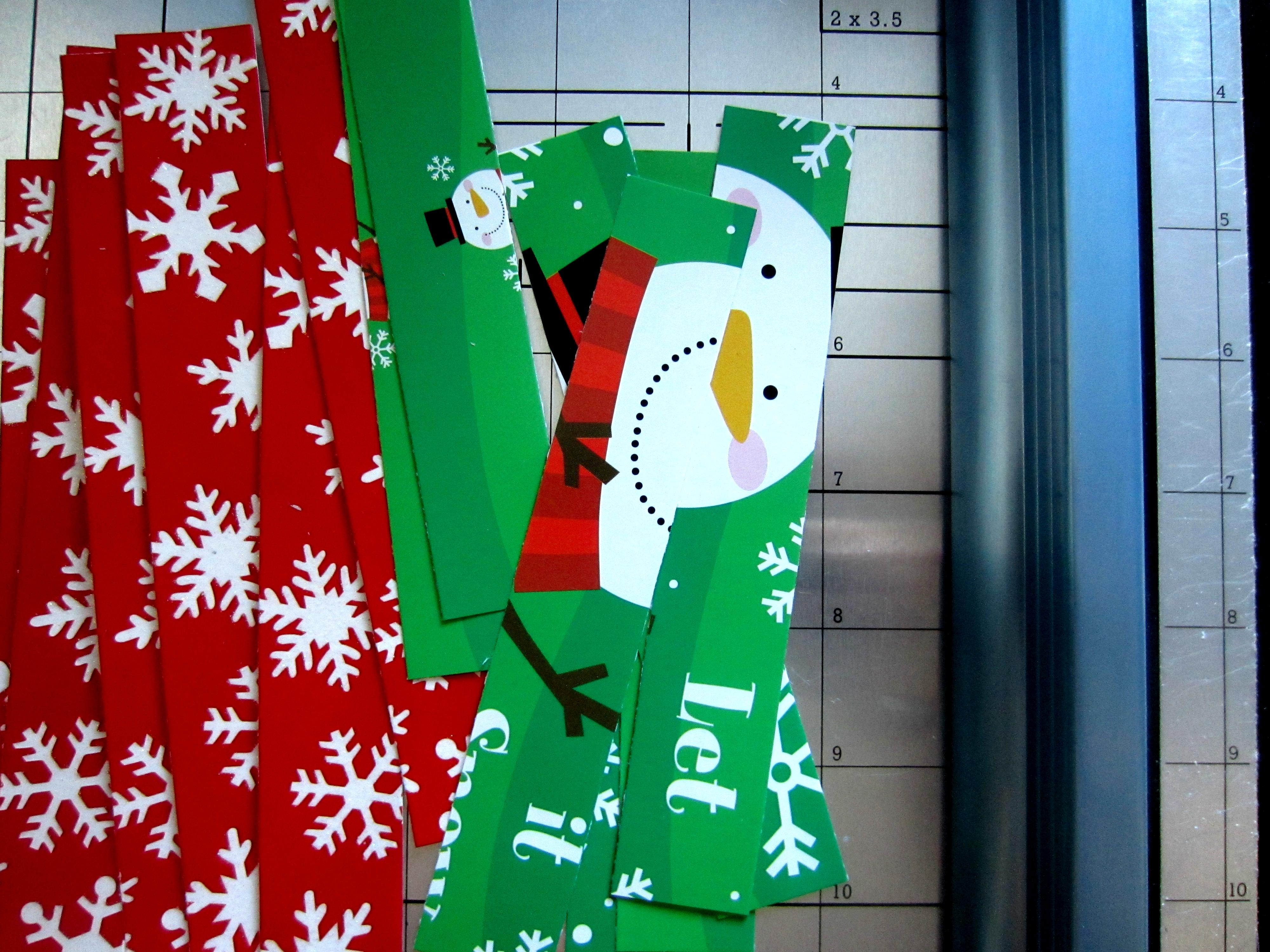 step - Christmas Card Ornaments