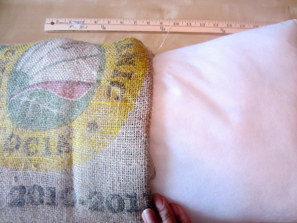 Recycled Coffee Bean Sack Outdoor Pillow (5)