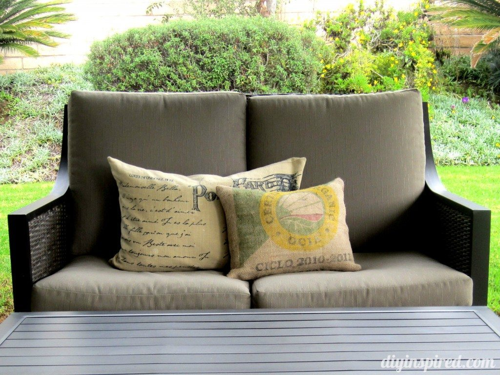 Recycled Coffee Bean Sack Outdoor Pillow (8)