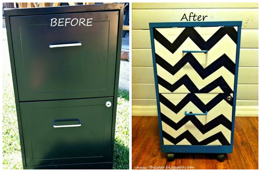 Metal file cabinet makeover diy inspired Upcycled metal filing cabinet