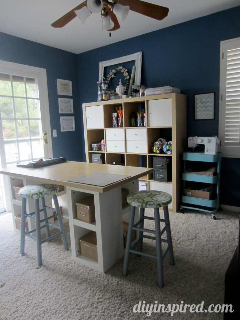craft room ideas diy inspired. Black Bedroom Furniture Sets. Home Design Ideas