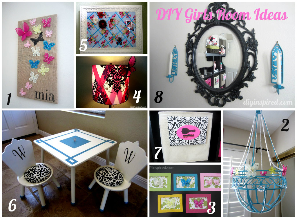 8 diy girls room ideas diy inspired for Diy living room ideas pinterest