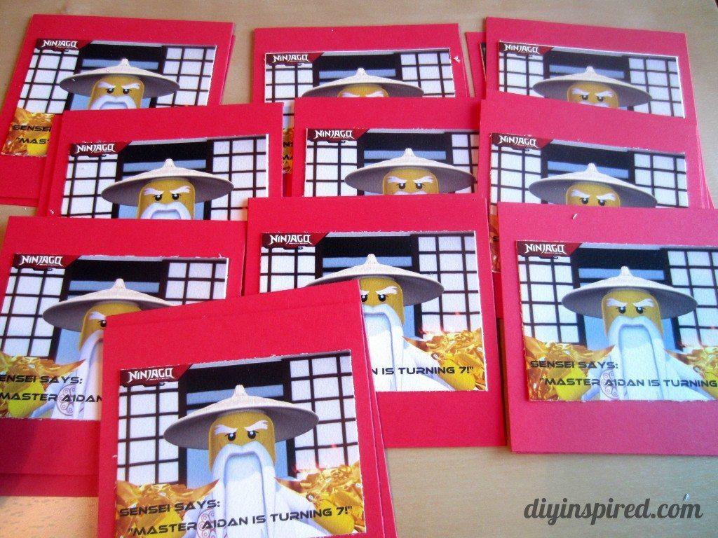 DIY Ninjago Birthday Invitations DIY Inspired – Ninjago Birthday Invitations