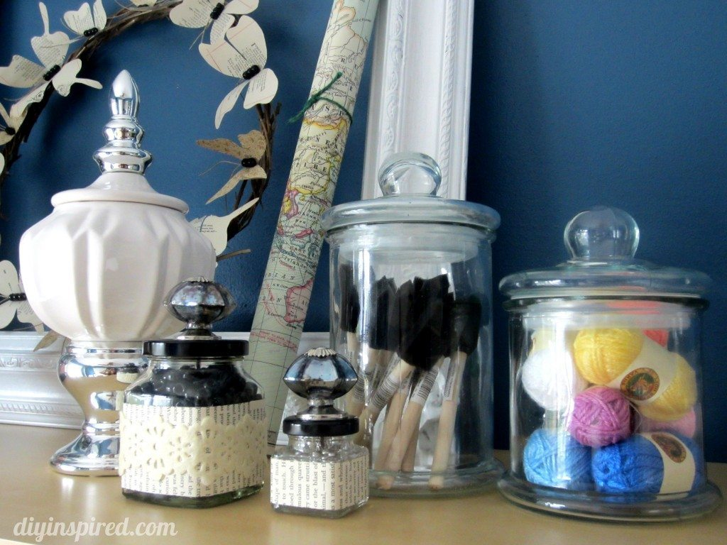 Craft room ideas diy inspired for Crafts using glass jars