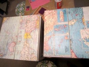 Recycled Map Drawer Makeover (5)
