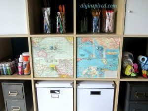 Recycled Map Drawer Makeover (7)