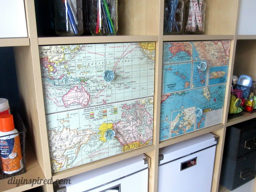 Recycled Map Drawer Makeover (8)