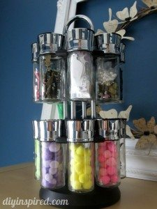 Recycled spice jar storage