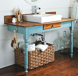 How To Repurpose Furniture repurposed furniture for your bathroom - diy inspired