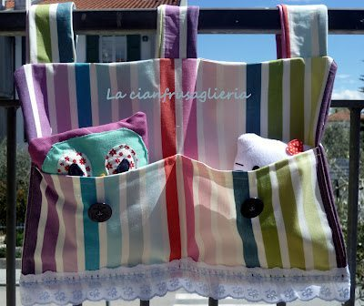 Striped Diaper Holder