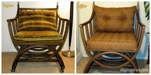 Thirft Store Chair Before and After