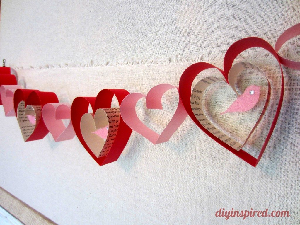 Valentines day craft diy garland diy inspired for Valentine day crafts for kids