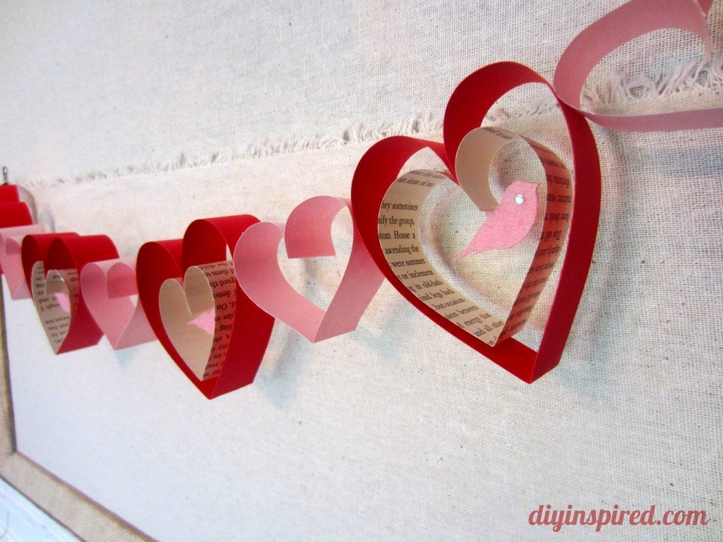 Valentines day craft diy garland diy inspired for Valentine day arts and crafts