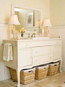 bathroom vanity dresser repurposed