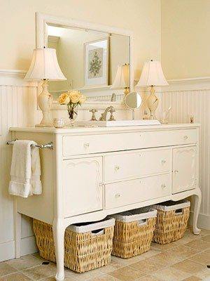 bathroom vanity dresser repurposed