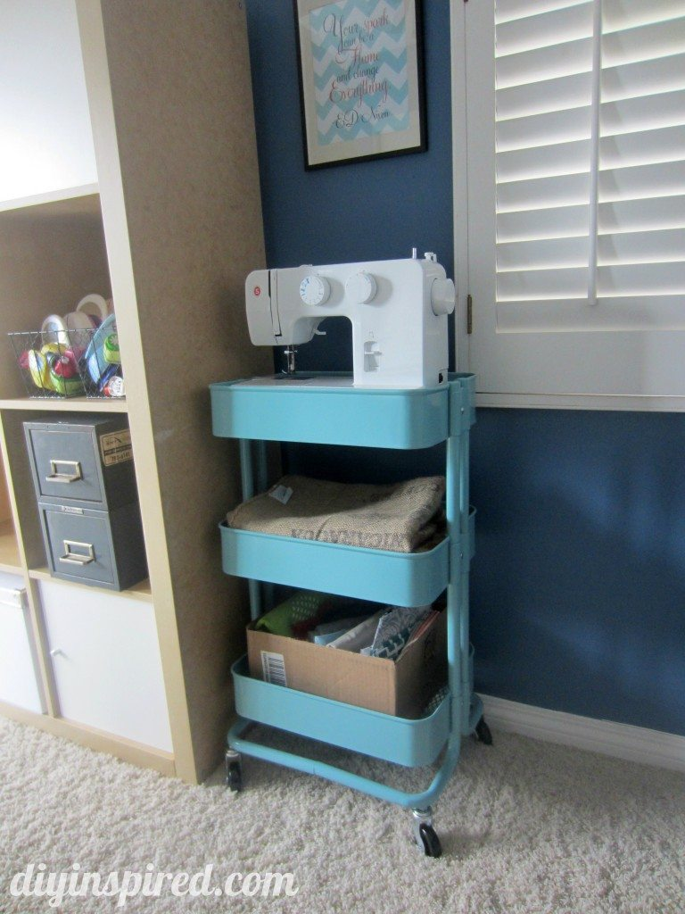 kitchen cart sewing storage