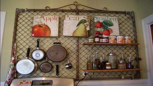 Upcycled Kitchen Peg Board