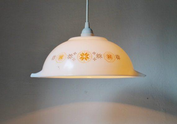 vintage bowl pendant