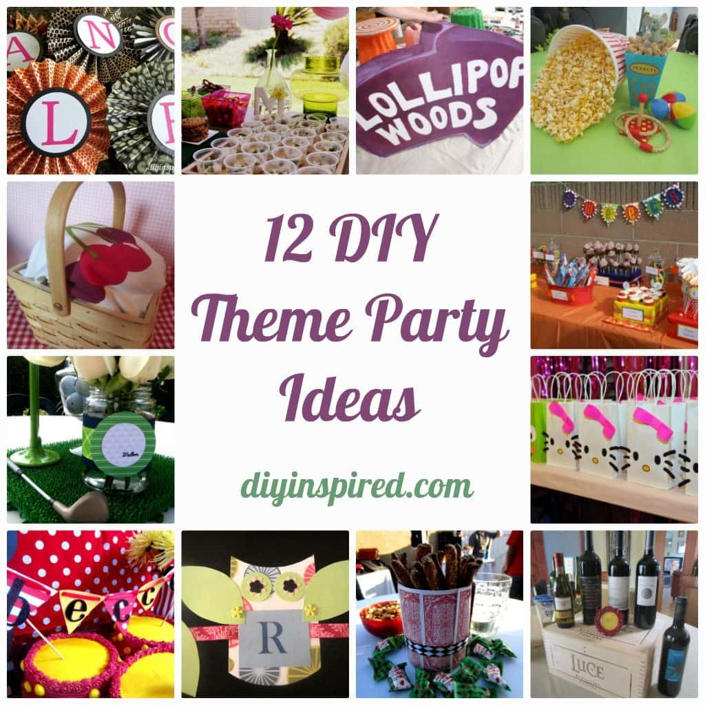 12 diy theme party ideas diy inspired for Adult birthday decoration ideas