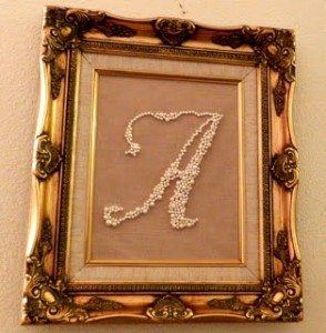 DIY Monogram Swarovski Pearls in a Frame  (1)