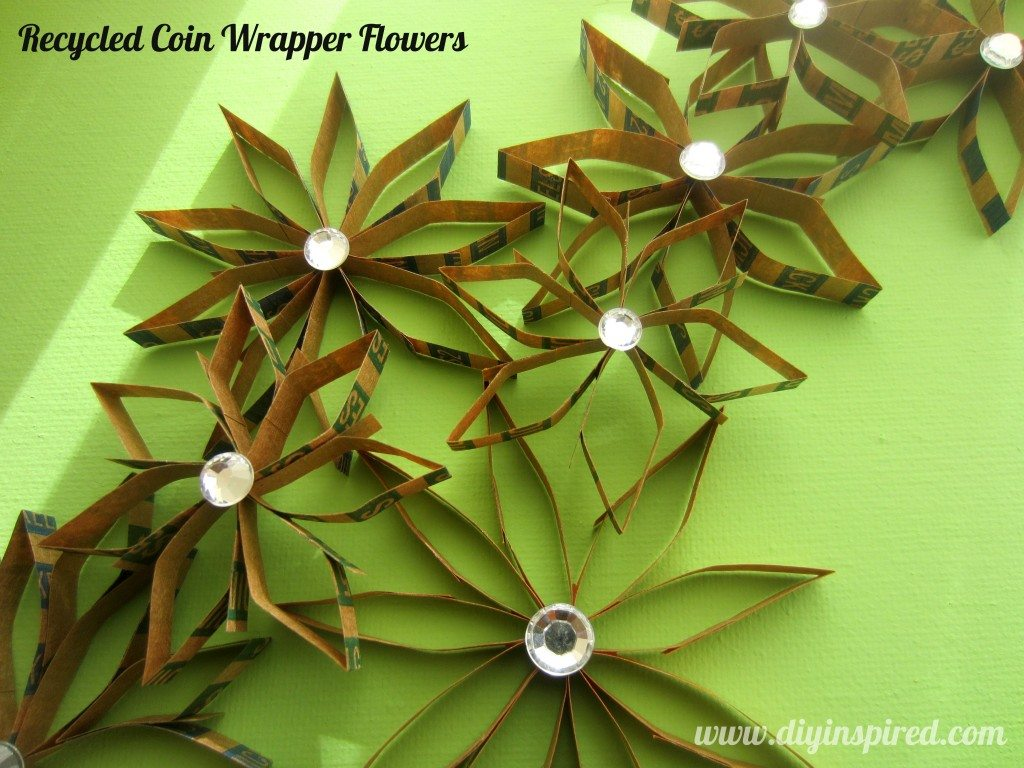 Recycled Coin Wrapper Flowers (1)