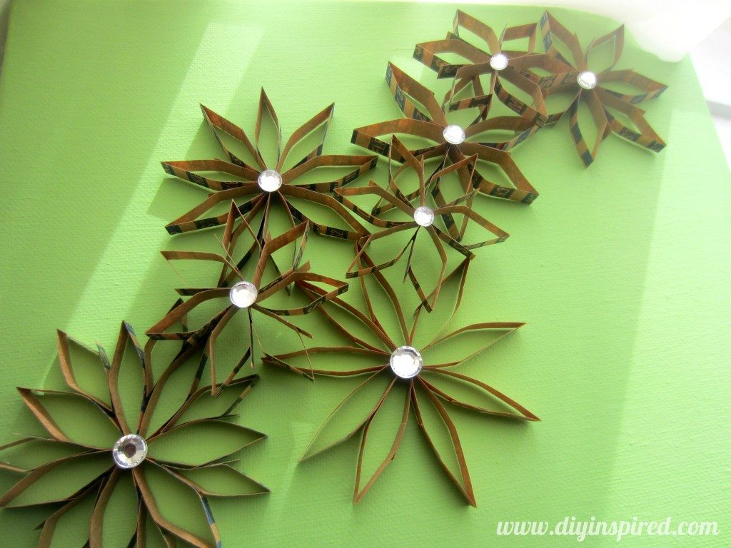 Recycled Coin Wrapper Flowers (10)