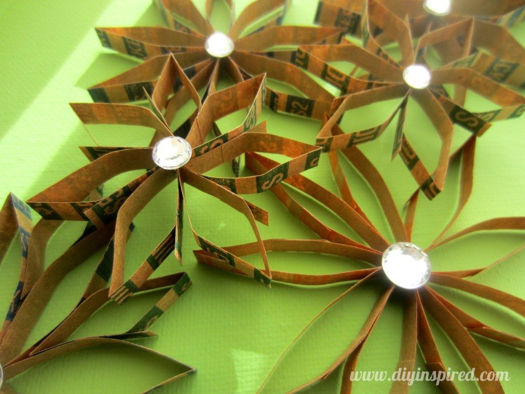 Recycled Coin Wrapper Flowers (2)