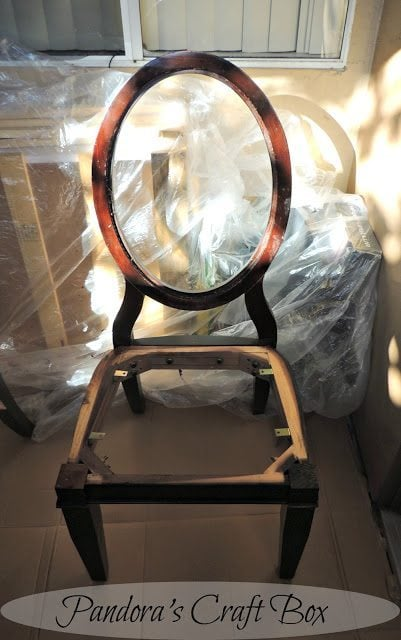 staining chair