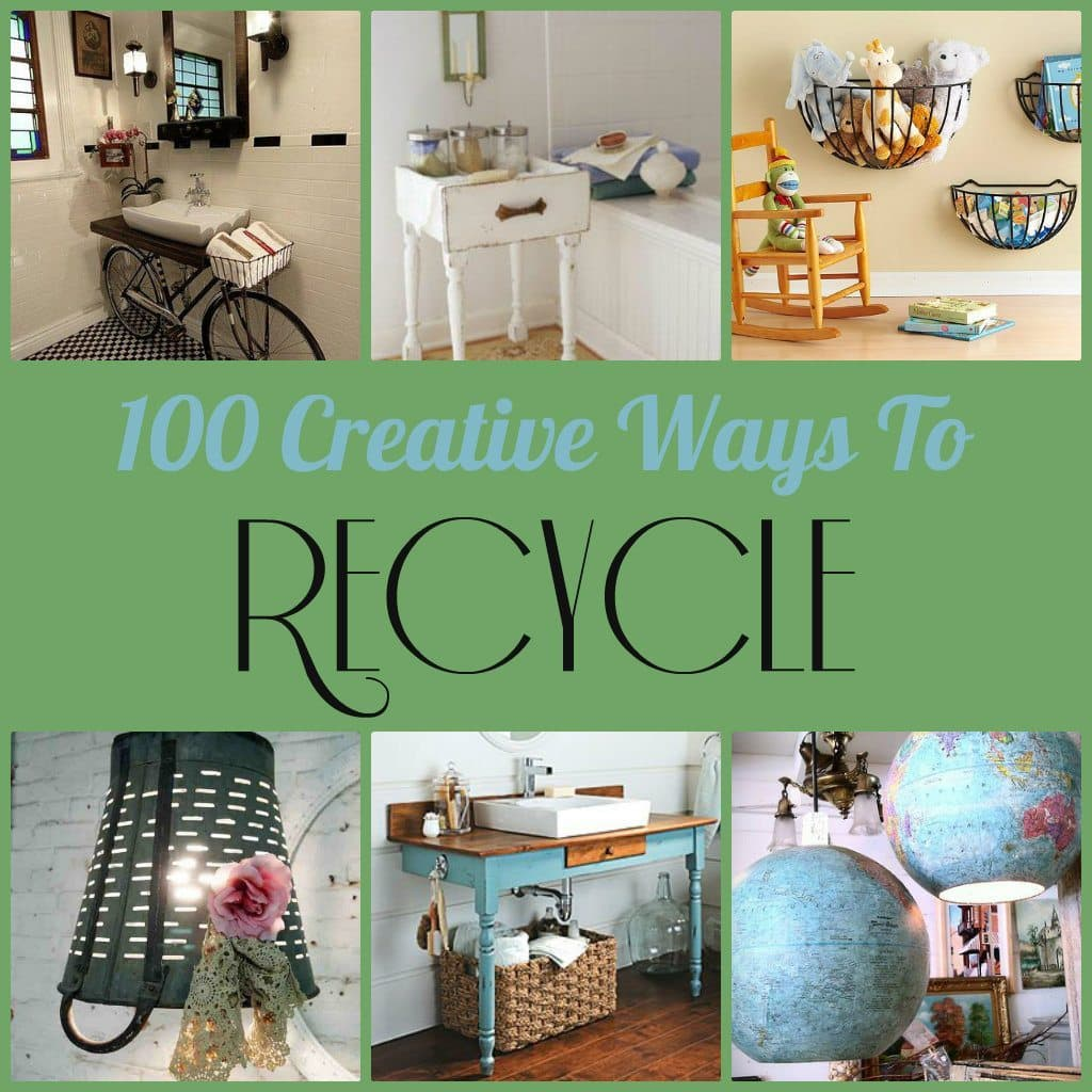 100 creative ways to recycle diy inspired for Home decorating materials