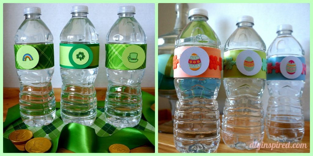 Holiday Bottled Water Collage